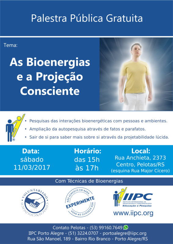 As Bioenergias e a Projeção Consciente 11_03_2017